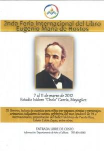 Segunda Feria Internacional del Libro Eugenio María de Hostos (Programa)