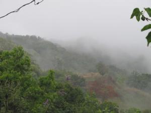 Derrumbes e inundaciones en carreteras del centro de la isla