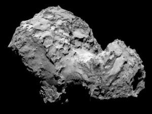 Foto cercana de la superficie del cometa 67P/Churyumov-Gerasimenko.
