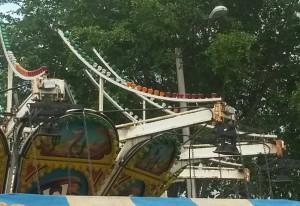 Bomberos ordena paralización uso de machina accidentada en Fiestas Patronales de Hormigueros