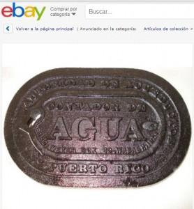 """Mientras en Puerto Rico arrestan personas, en """"eBay"""" venden las tapas de contadores de la AAA como piezas de """"colección"""""""