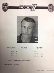 Ficha de Johnny Feliciano Pérez, presunto violador de anciana en Añasco.
