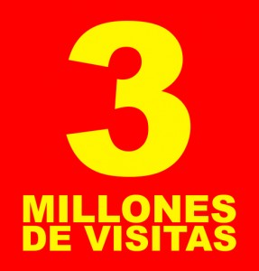 Llegamos a los 3 millones de visitas en LA CALLE
