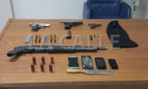 Arrestan tres sujetos armados frente al cementerio de Mayagüez