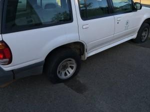 Vandalizan vehículos del RUM durante paro estudiantil