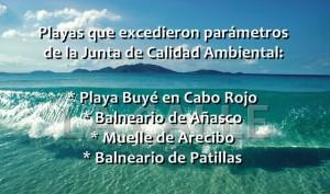 Playa Buyé y el Balneario de Añasco en incumplimiento con parámetros de calidad de agua