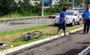 Grave ciclista atropellado esta mañana en Aguada