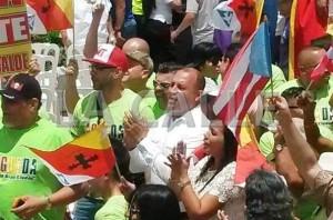 Alcalde Jessie Cortés llegó a Sabana Grande a pesar de sus críticas por cancelación actos del ELA en Aguada