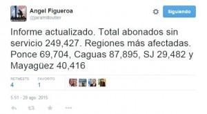 Más de 40 mil abonados sin luz en Mayagüez