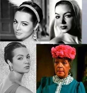 Combinación fotográfica errónea en la que se aseguraba que eran fotos de Angelines Fernández en su juventud (Tomada de Facebook).