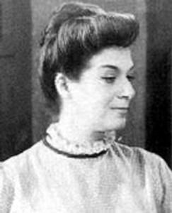 Angelines Fernández en su juventud (Archivo).