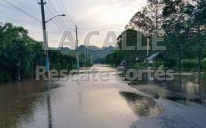 Cerrada la carretera 115 por desbordamiento del río Culebrinas