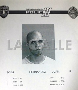 Ficha de Juan Sosa Hernández (Suministrada Policía).
