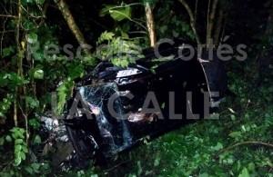 Accidente grave esta madrugada en sector La Cadena en Aguada