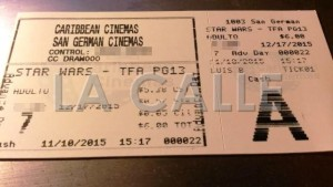 "DACO investiga a Caribbean Cinemas por venta adelantada de boletos de ""Star Wars"""