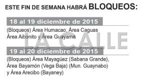 Policía y Comisión Seguridad en el Tránsito anuncian bloqueos en todo Puerto Rico este fin de semana