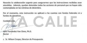 """Se """"destapa la olla"""" en el RUM sobre la paralización de pagos en la UPR"""