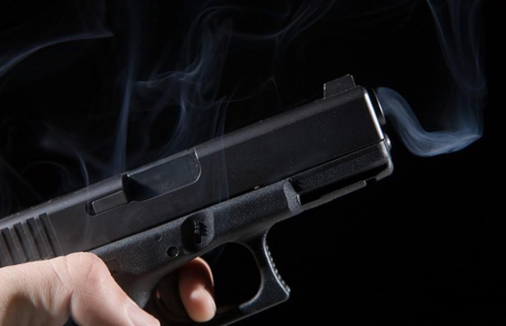pistola disparada