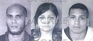 Fotos de las fichas de Bryan Omar Valle Sierra, Milagros Sierra y Rafael Bellido Sierra (Suministradas Policía).