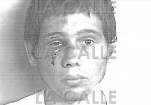 Foto de la ficha de Rafael Valentín Rivera. Tomada luego de una pela que le dieron sus vecinos (Suministrada Policía).