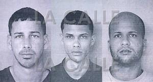 De izquierda a derecha, Alexis Boneta Hernández, Kevin Dávila Hernández y Miguel Ramos Meléndez (Suministradas Policía).