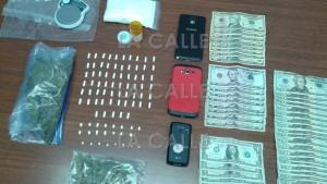 Material ocupado durante un allanamiento y hallazgo en un condominio de Lajas (Suministrada Policía).