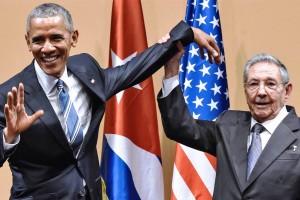 Un momento de la conferencia de prensa conjunta del presidente Obama y el presidente Castro en La Habana (Internet).