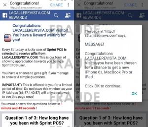 Notificación fraudulenta que le ha llegado a nuestros lectores (Captura de pantalla).