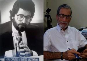 El licenciado Carlos Acevedo Lazzarini durante sus años como legislador y en época reciente (Fotos Facebook).