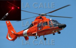 "Guardia Costera busca ""como aguja"" a los que apuntaron con ""láser"" a helicópteros en Aguadilla"