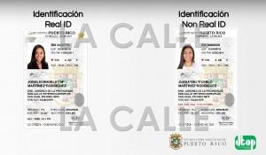 """Identificación para no conductores en formato """"Real Id"""" (Suministrada)."""