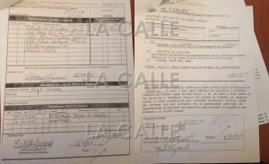 """Copias de la orden de compra y factura sellada como pagada y firmada por el exalcalde Martín Vargas Morales. Haga """"click"""" sobre la imagen para ampliarla (Suministradas)."""