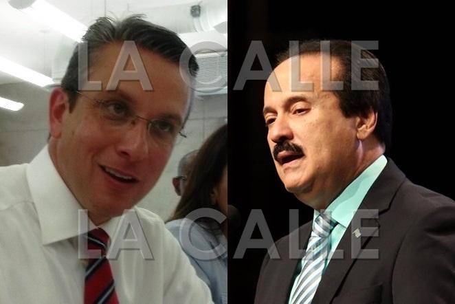 El gobernador Alejandro García Padilla y el alcalde de Mayagüez, José Guillermo Rodríguez.