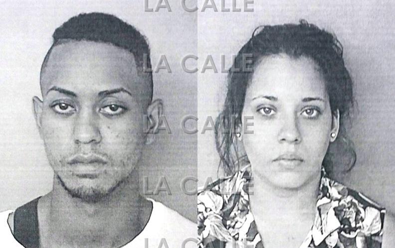 Fotos de las fichas de Jason Curet y Caroline Marie Aquino (Suministradas Policía).