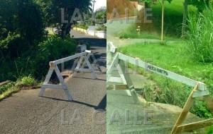 Las vallas de madera no resuelven… Desprendimientos ponen en peligro carreteras de Mayagüez