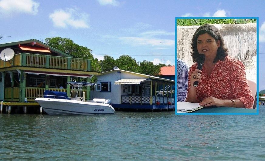 La secretaria del DRNA, Carmen Guerrero, le pidió al gobernador Alejandro García Padilla que no firme el proyecto que privatiza la zona marítimo-terrestre en La Parguera (Fotomontaje LA CALLE Digital).