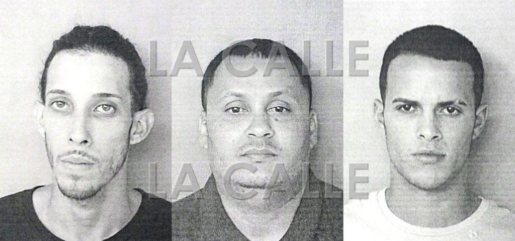 Fotos de las fichas de Von Jovi Lugo Vélez, Josué Marrero Otero y Bryan Negrón Pagán (Suministradas Policía).