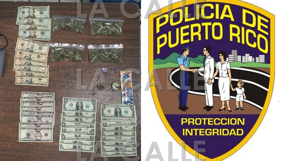 Marihuana y dinero ocupado en Hormigueros (Suministrada Policía).