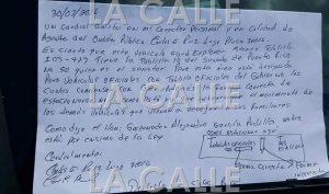 """Le """"recetan"""" boleto a Senador en Cabo Rojo por estar mal estacionado y el agente le deja una """"notita"""""""