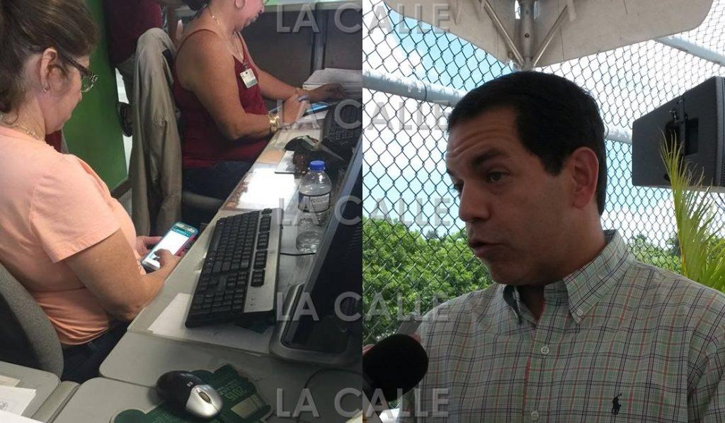 El secretario del DTOP, ingeniero Miguel Torres, dijo que se han sancionado empleados que han sorprendido usando sus teléfonos cuando deben estar atendiendo público.