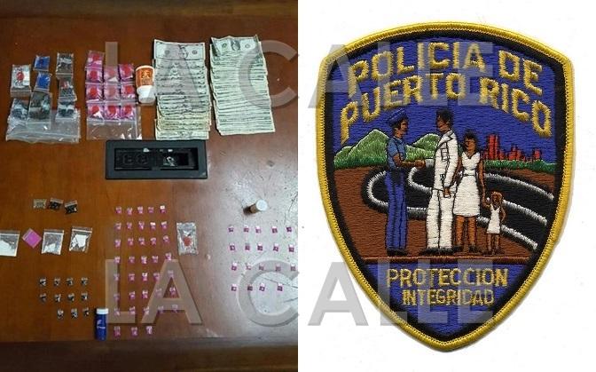 Droga y dinero ocupado durante allanamiento en Rincón (Suministrada Policía).