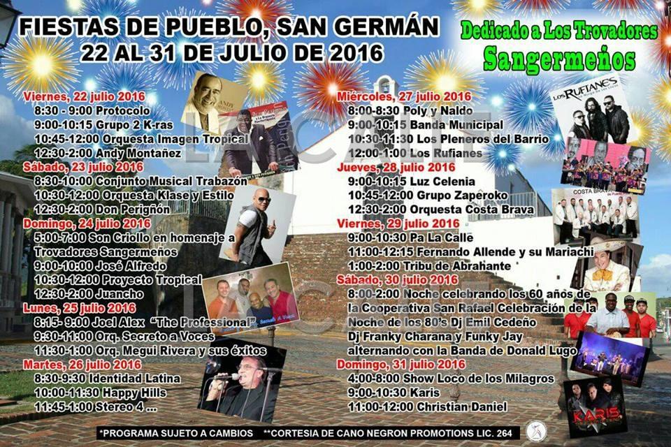 """Programa oficial de las Fiestas de Pueblo de San Germán 2016. Haga """"click sobre la imagen para ampliarla."""