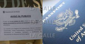 Reclaman que se vuelvan a emitir pasaportes en oficina del Departamento de Estado en el Mayagüez Mall