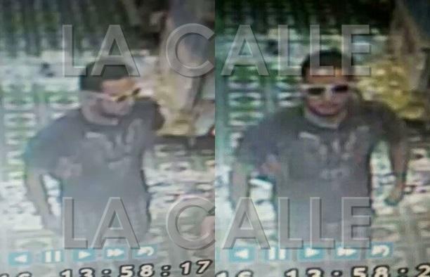 Captura de pantalla de un video de seguridad en el que aparece el asaltante (Suministradas Policía).