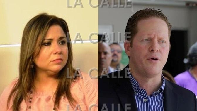 La senadora Mari Tere González y el presidente del PPD, el doctor David Bernier.