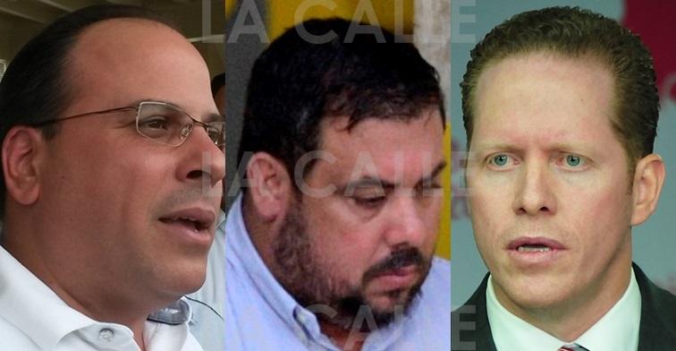 El expresidente cameral Jaime Perelló, el convicto empresario Anaudi Hernández y el doctor David Bernier.