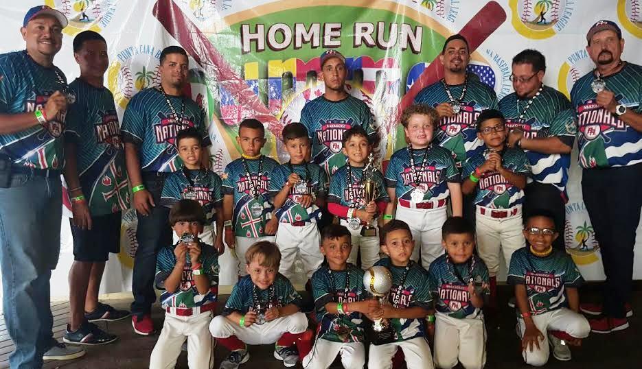 """Equipo Mayagüez """"Nationals"""", de la categoría de 5 y 6 años (Suministrada)."""