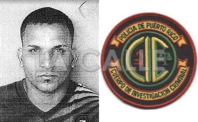 """Foto de la ficha de Michael L. Ruiz Matos, alias """"El Alacrán"""" (Suministrada Policía)."""
