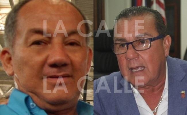 "El exalcalde Leovigildo ""Leo"" Cotte y el actual incumbente Marcos ""Turin"" Irizarry."