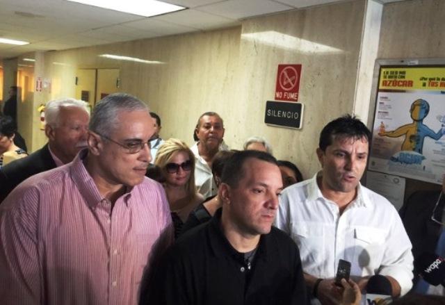 De izquierda a derecha, José Caro Pérez, Nelson Ortiz Alvarez y Nelson Ruiz Colón, quedaron definitivamente libres (Foto Twitter José Esteves @jestevesT2).